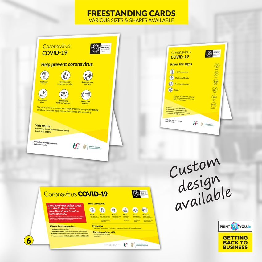 Covid 19 freestanding cards