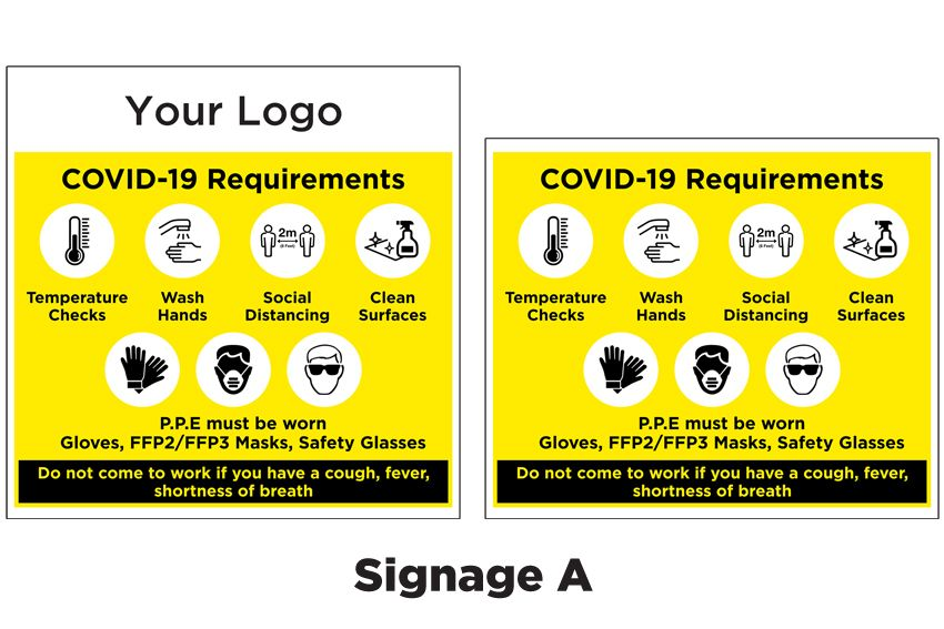 Covid 19 Requirements Signage